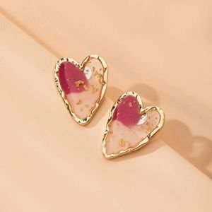 3/$30 💛 Acrylic Heart Stud Earrings